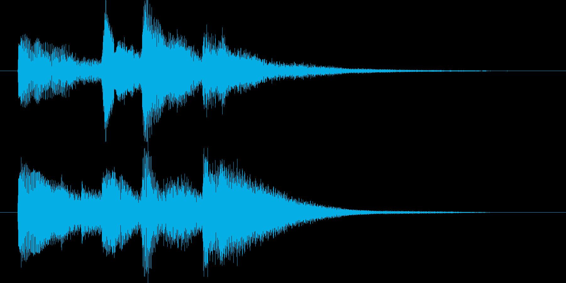 【ジングル】ファンタジー感のあるジングルの再生済みの波形
