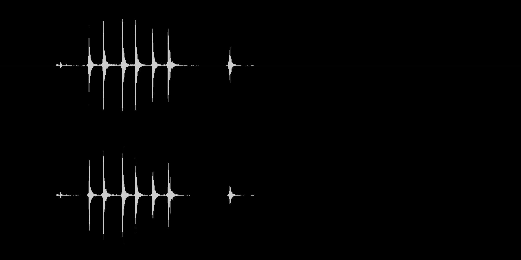 【生録音】ぜんまいを巻く音(1回)の未再生の波形