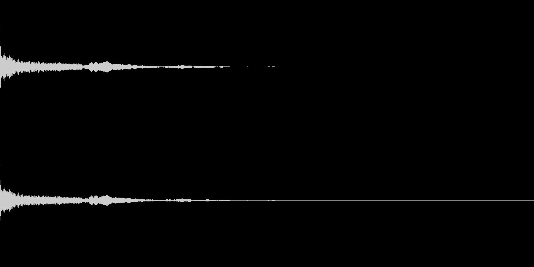 おとぼけ系SEの未再生の波形