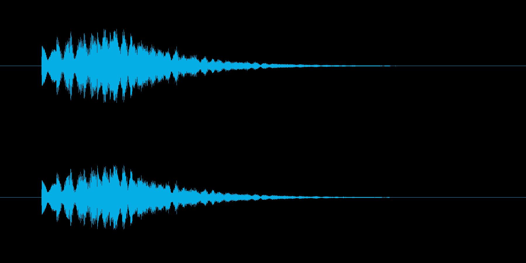ティロリロリン(明るく綺麗なタイトル音)の再生済みの波形