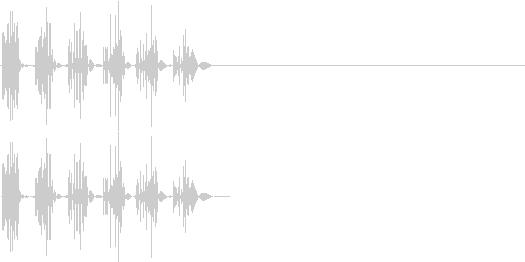 【ポコッ】ファミコン系 敵を倒す音_01の未再生の波形