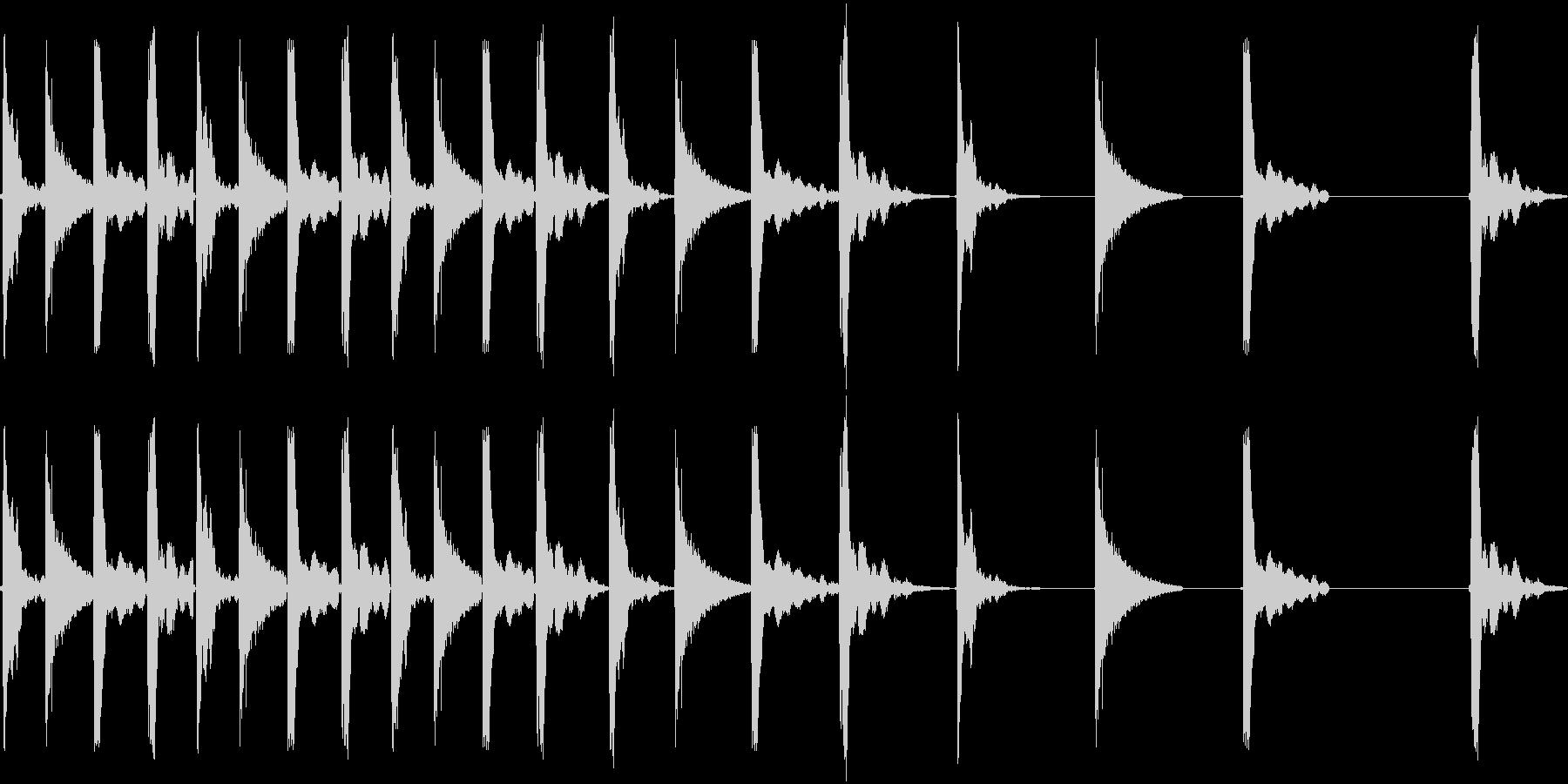 転がるの未再生の波形
