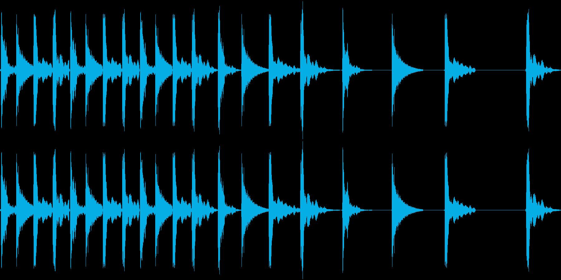 転がるの再生済みの波形