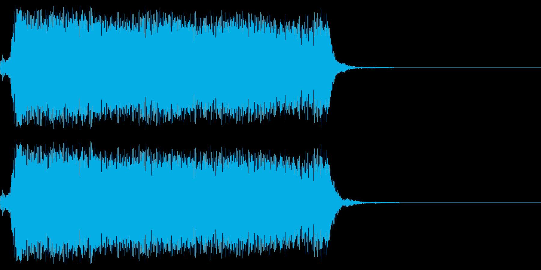 蒸気機関車の汽笛1  ポーの再生済みの波形
