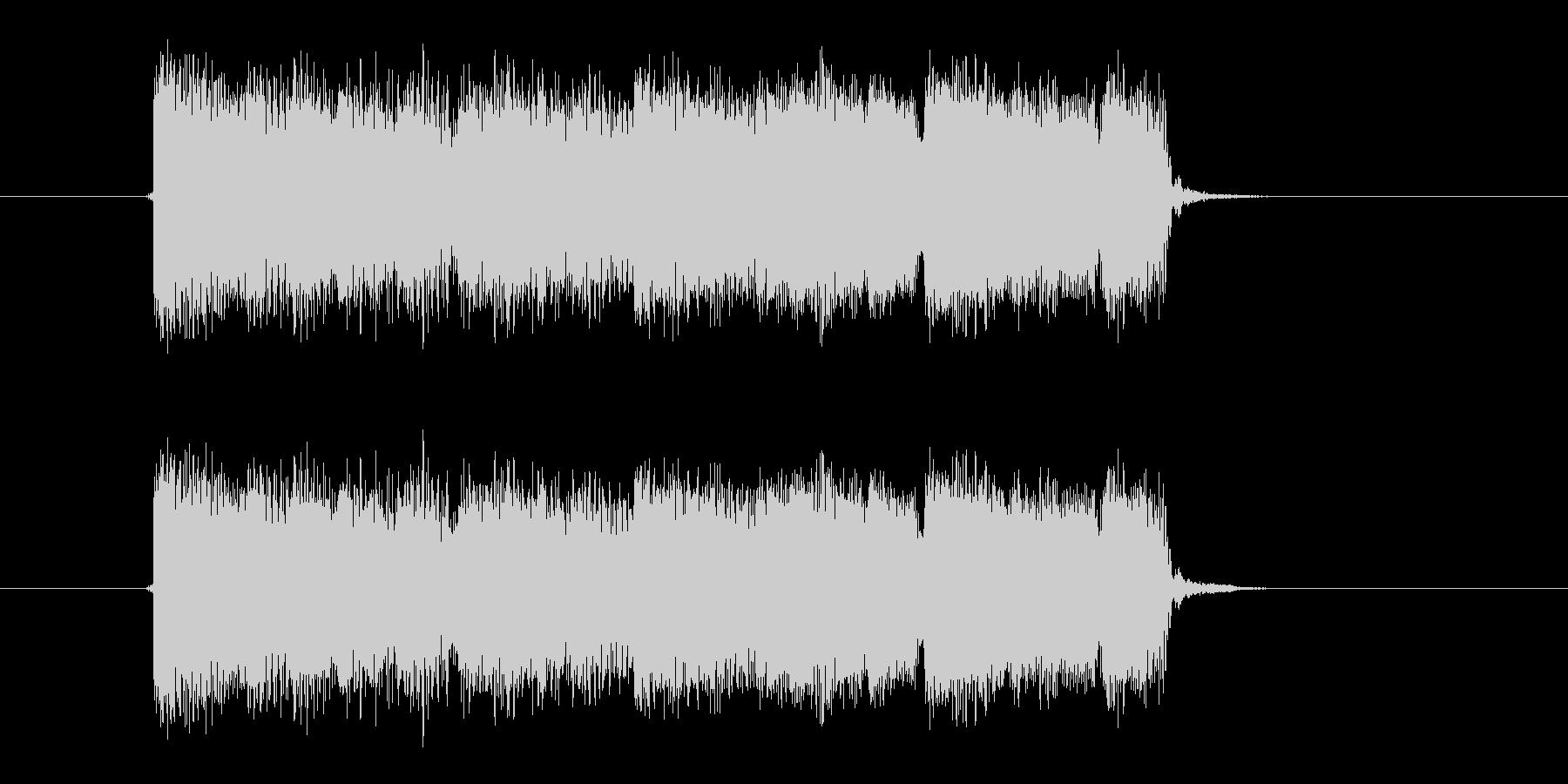 激しいギター音(弦、弾く)の未再生の波形