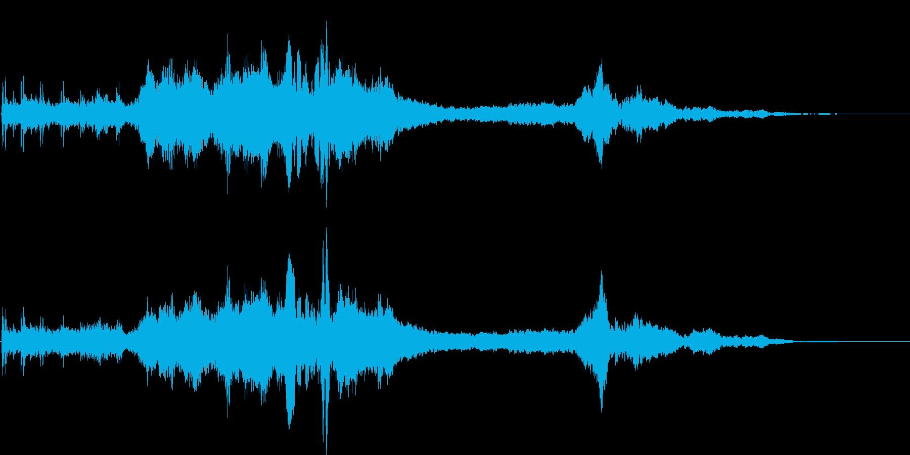 異空間がテーマのアイキャッチ音の再生済みの波形