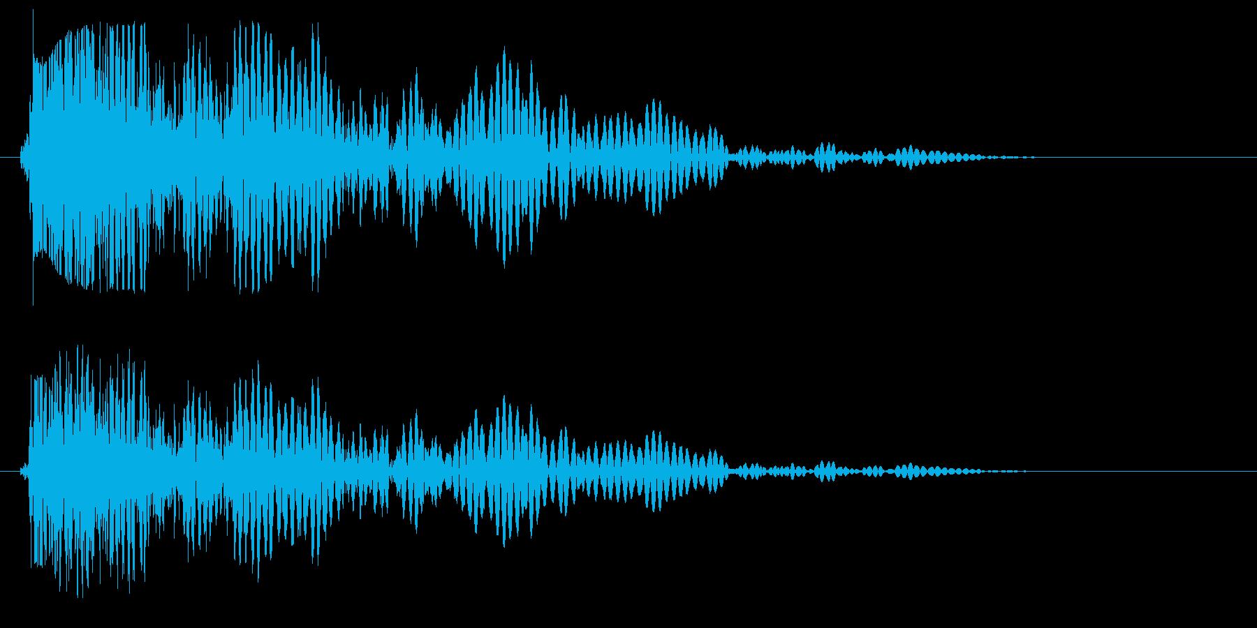 ドゥン(スネアドラム単発)の再生済みの波形