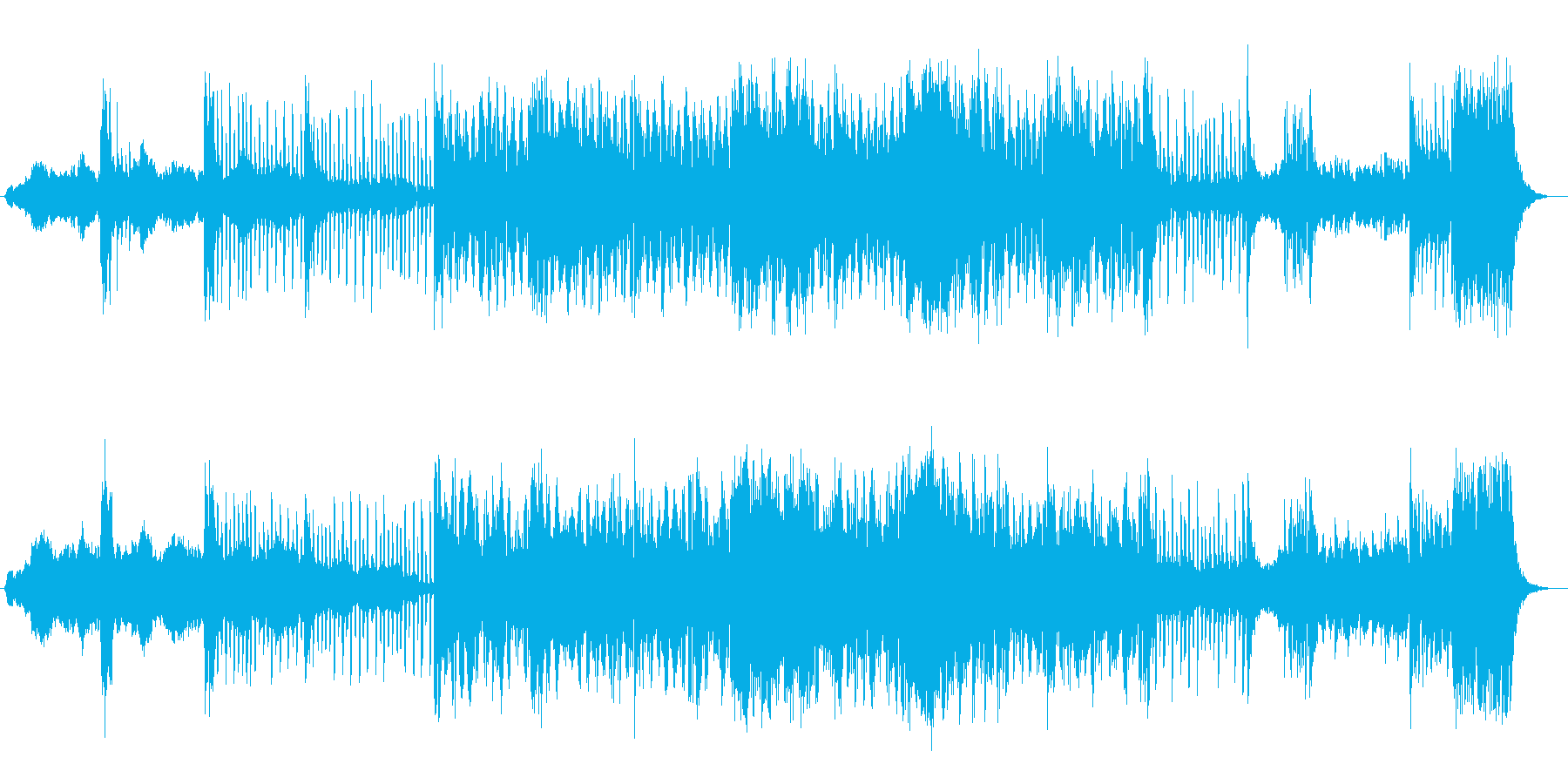 何かが起こりそうな予兆をイメージしてみ…の再生済みの波形