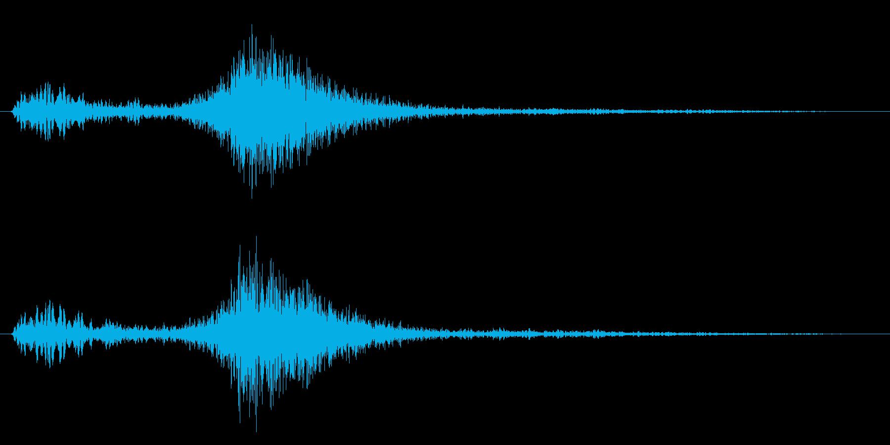 メニュー画面音(ウインドウ開閉など)03の再生済みの波形