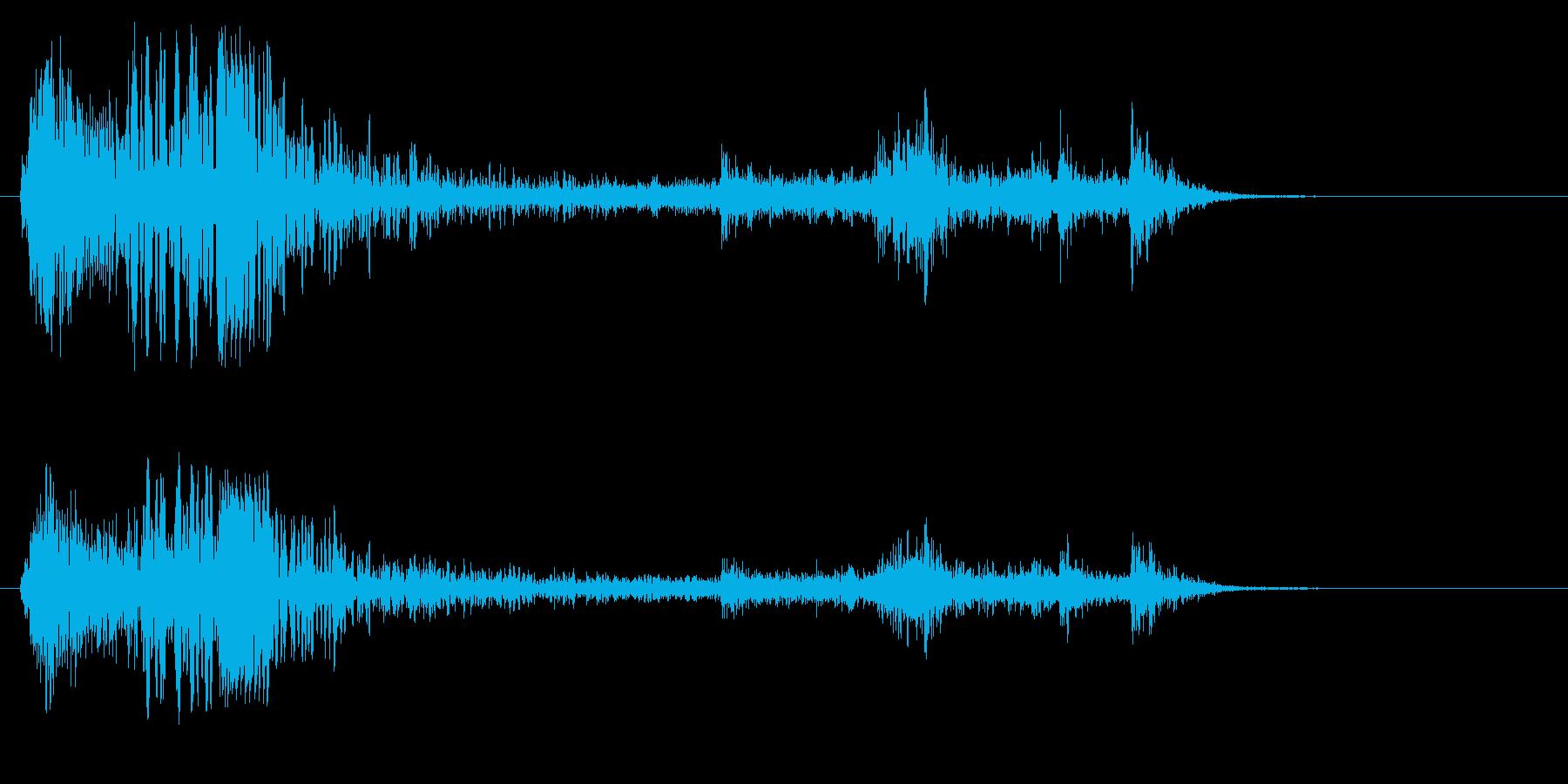 まな板の上で切る効果音の再生済みの波形