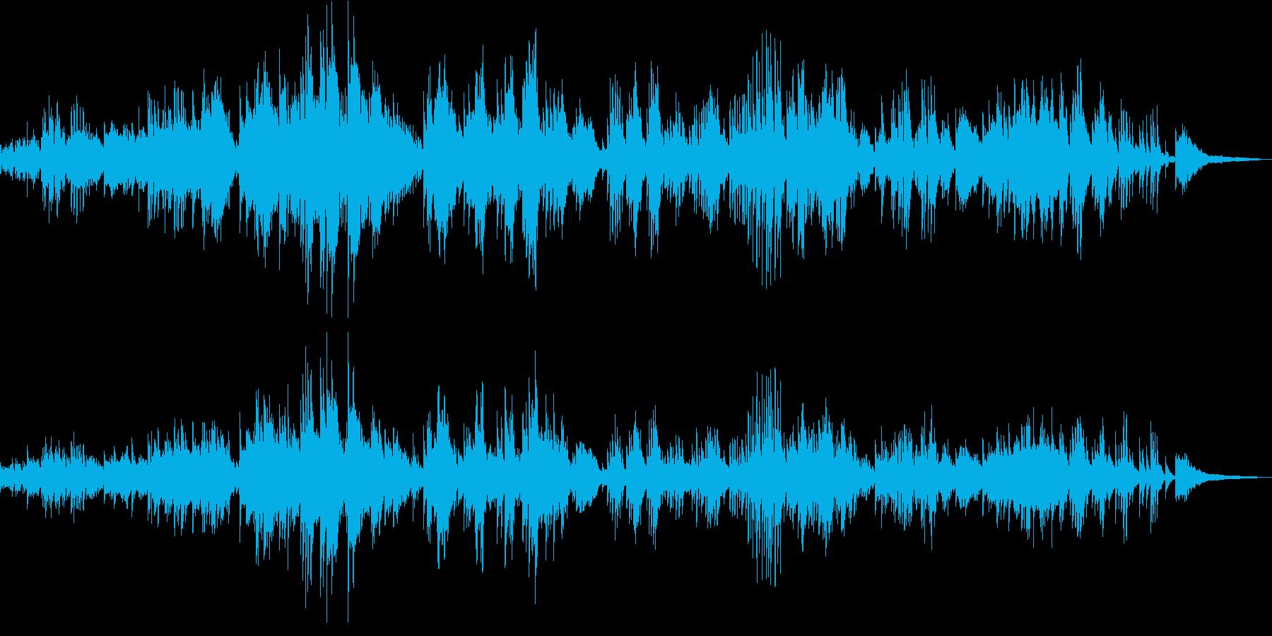 ドビュッシーが作曲したピアノ独奏曲の再生済みの波形