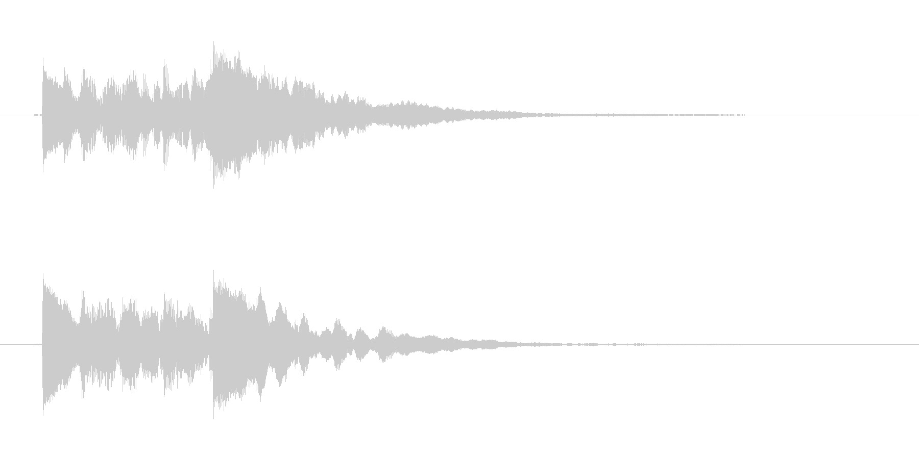 ポロポロローン(優しく透明感あるハープ)の未再生の波形