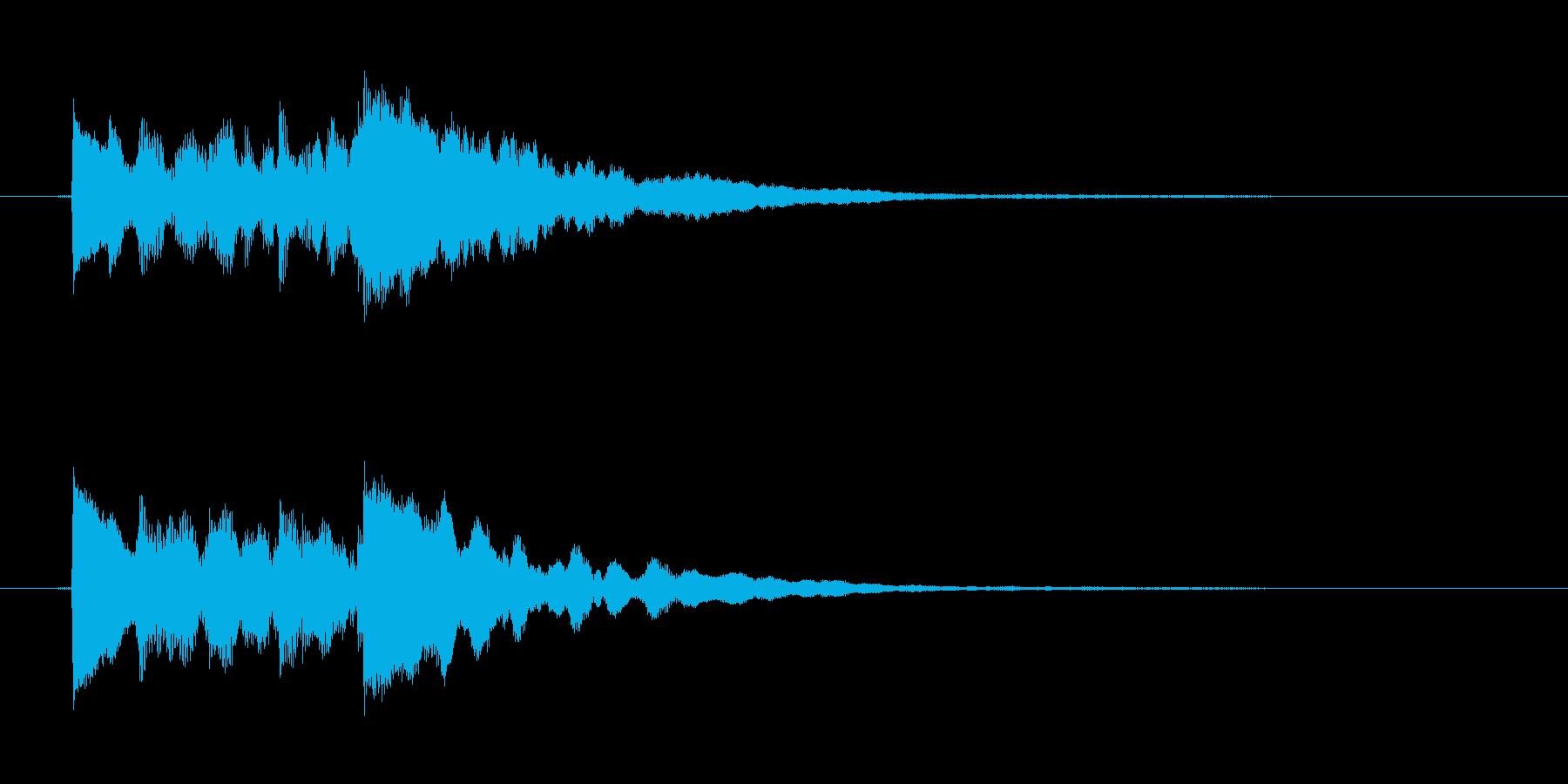 ポロポロローン(優しく透明感あるハープ)の再生済みの波形
