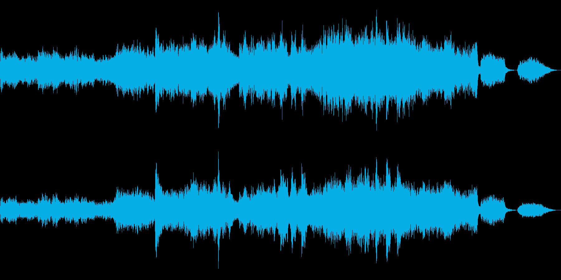 バイオリンが絡み合う感動的な曲の再生済みの波形