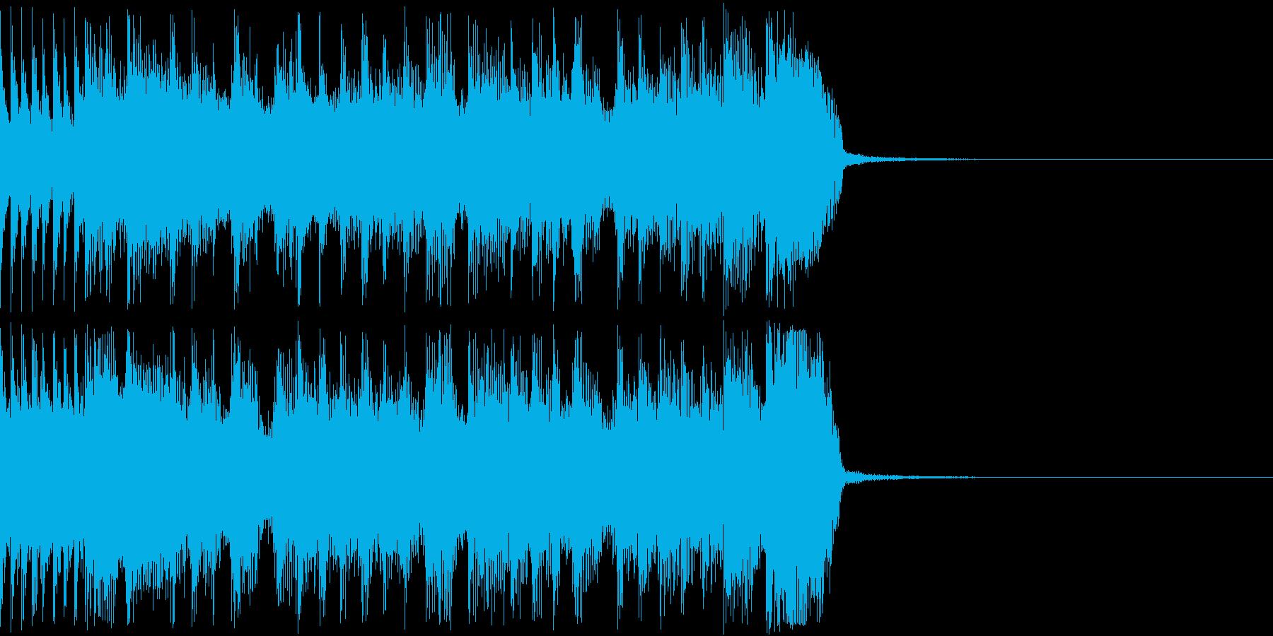 ロックなジングル1 漫才の出囃子 登場にの再生済みの波形