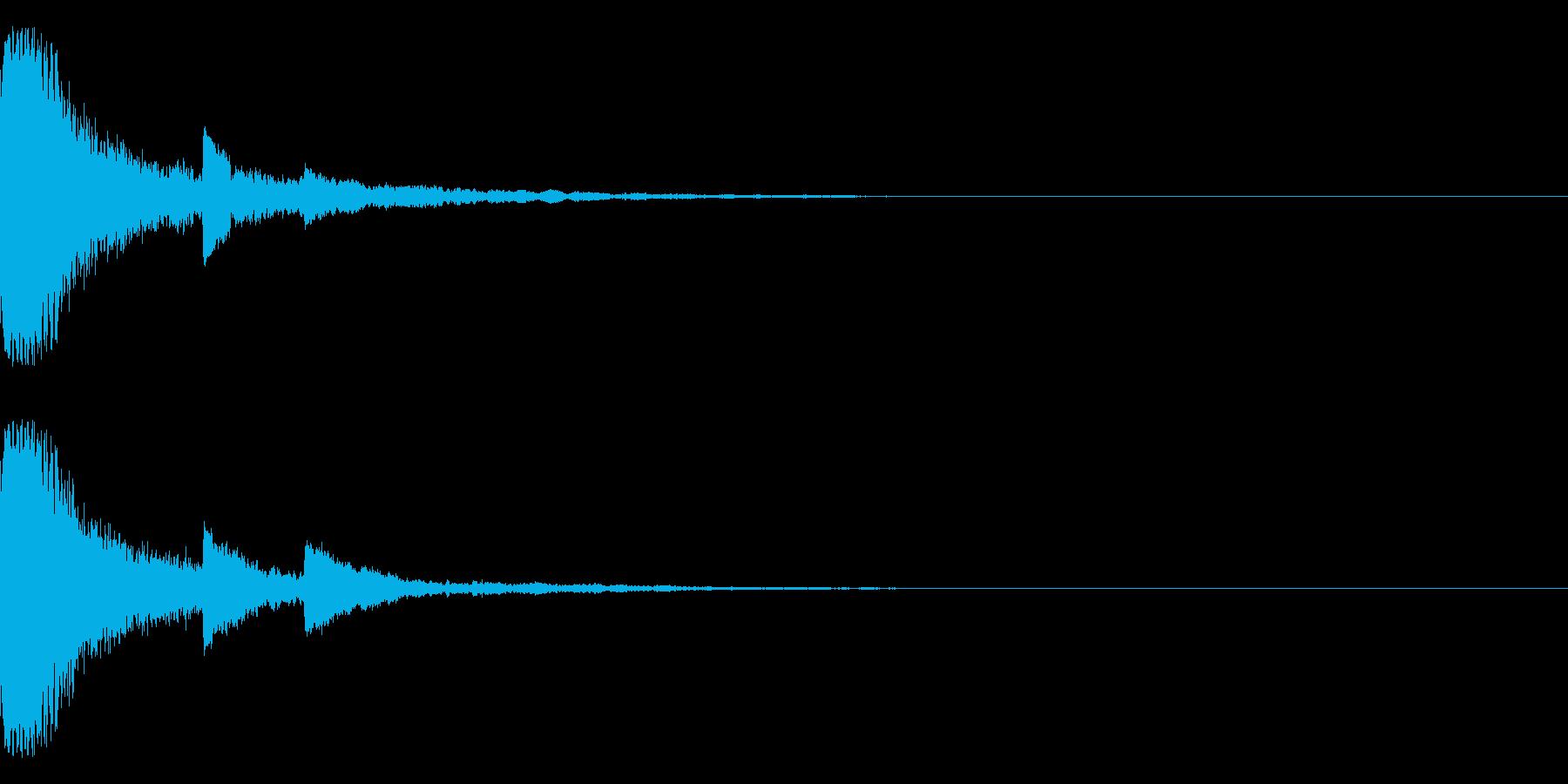 SF的な音の再生済みの波形