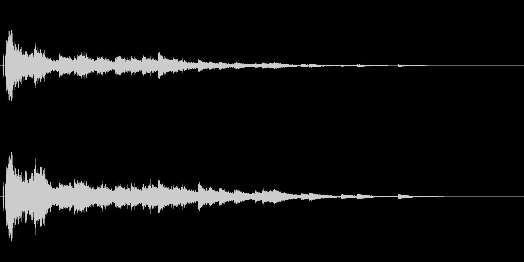 しゃらららららららーー ウィンドチャイ…の未再生の波形