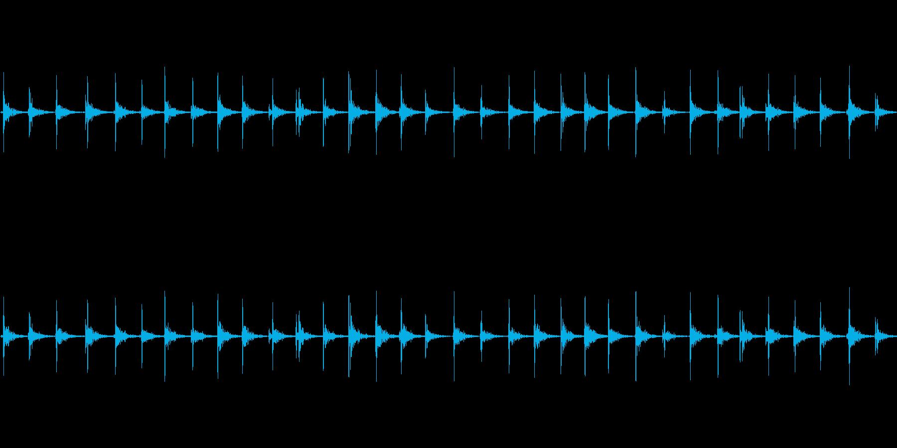 【足音02-5L】の再生済みの波形