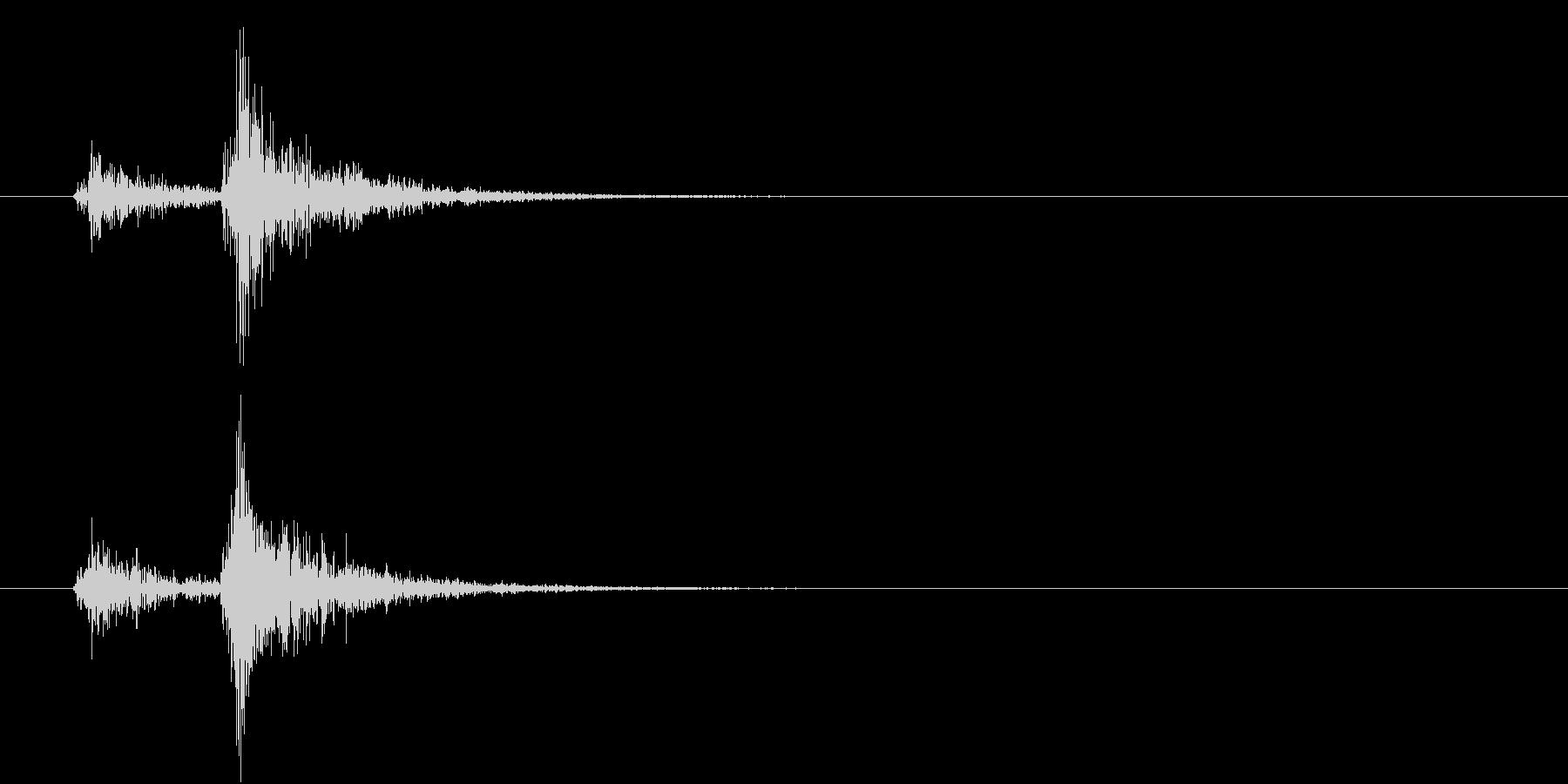 音侍「ドン、ドン」歌舞伎の足拍子の連打音の未再生の波形