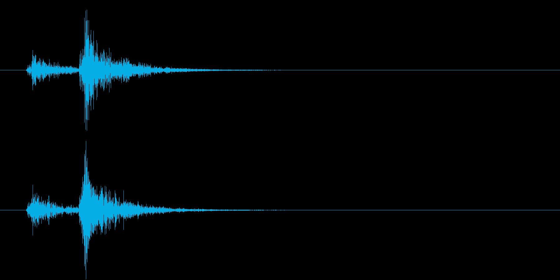 音侍「ドン、ドン」歌舞伎の足拍子の連打音の再生済みの波形