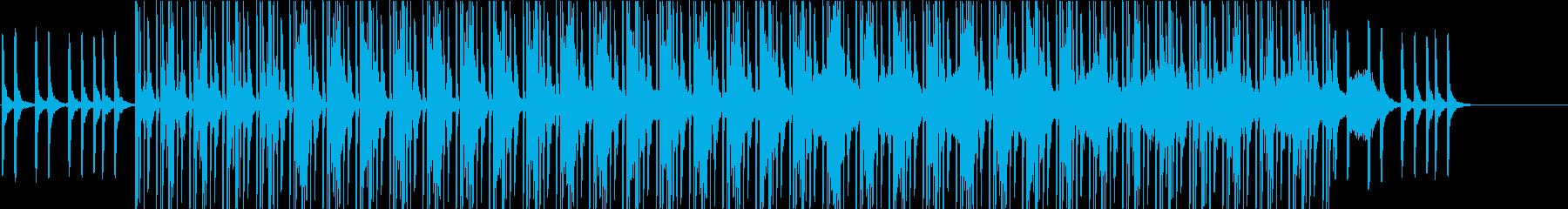 淡々とした80年代中盤風テクノの再生済みの波形