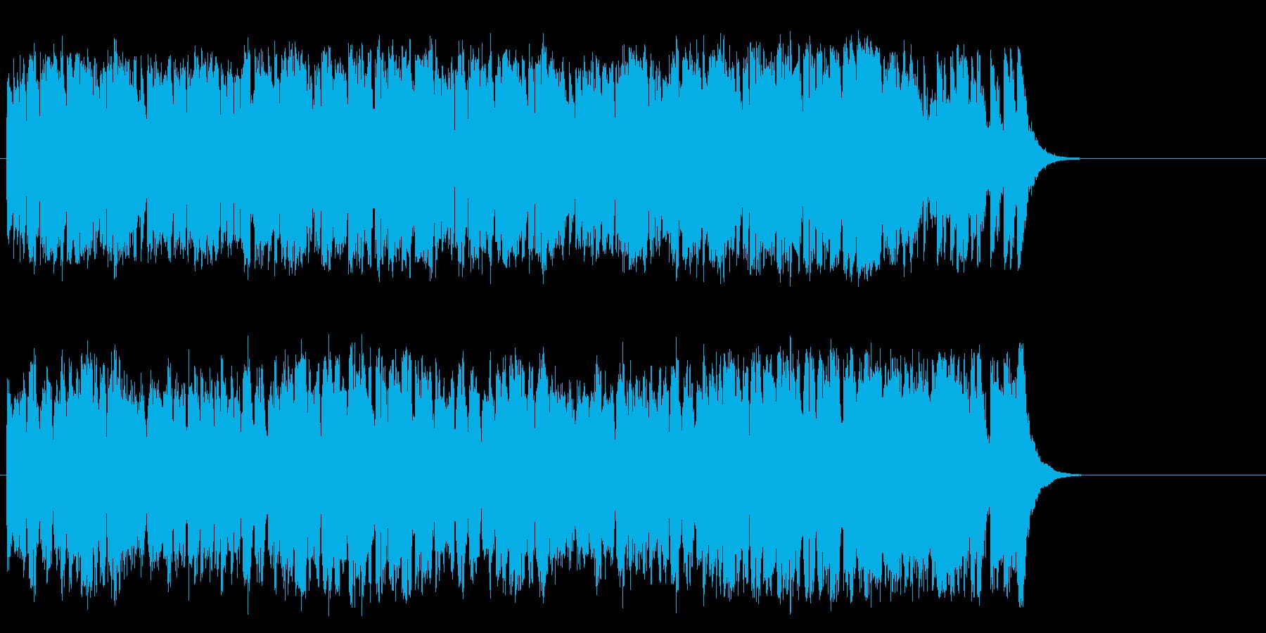元気で軽快なポップス(サビ~エンド)の再生済みの波形