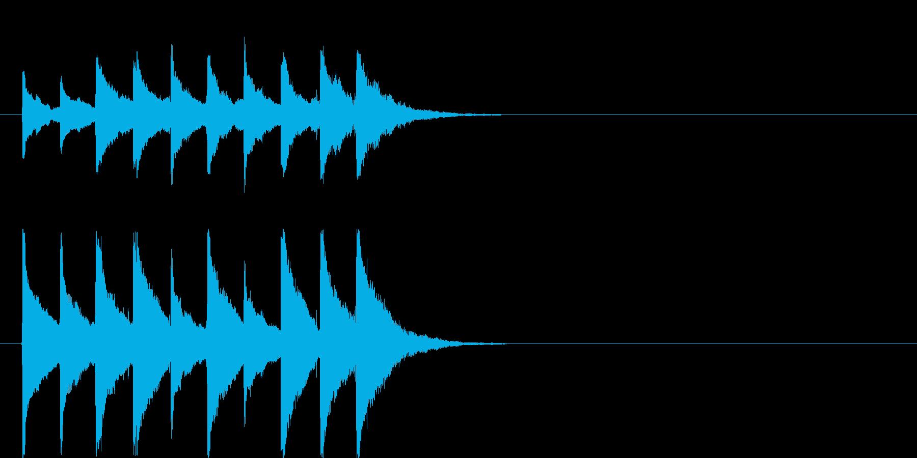 ジングル用途に制作しました。24bit…の再生済みの波形