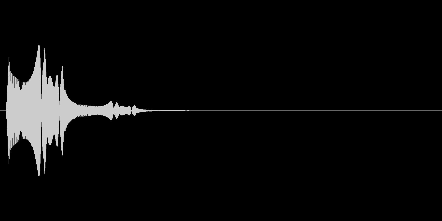 柔らかいものにタッチしたときの効果音1の未再生の波形