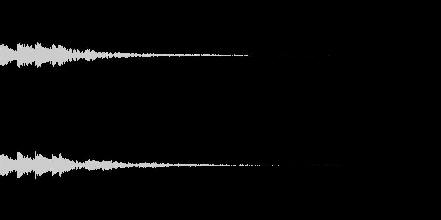 【SE 効果音】ポッポッポッの未再生の波形