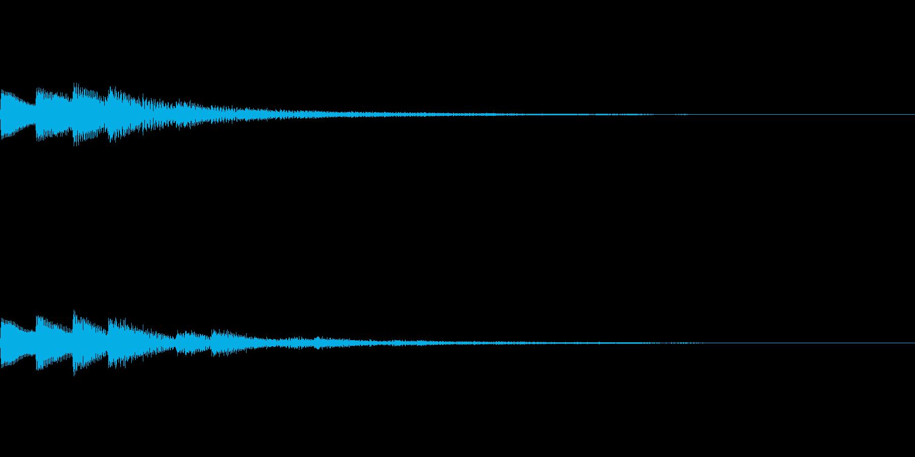 【SE 効果音】ポッポッポッの再生済みの波形