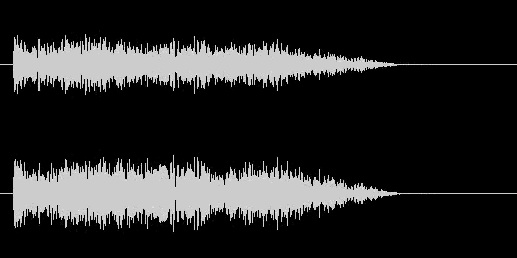 恐怖を演出する鍵盤楽器の不協和音の未再生の波形