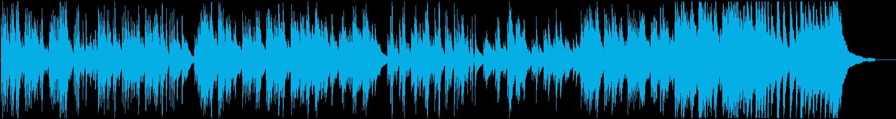 軽快なテンポのピアノ曲の再生済みの波形
