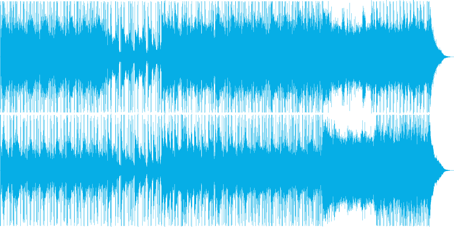 琴、尺八等、和楽器メインの穏やかな和風曲の再生済みの波形