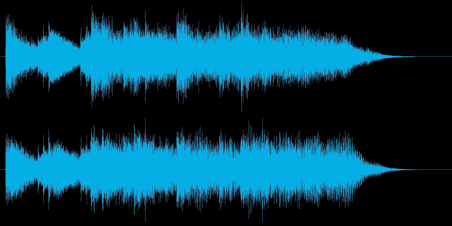 始まりや終わりを感じるピアノジングルの再生済みの波形