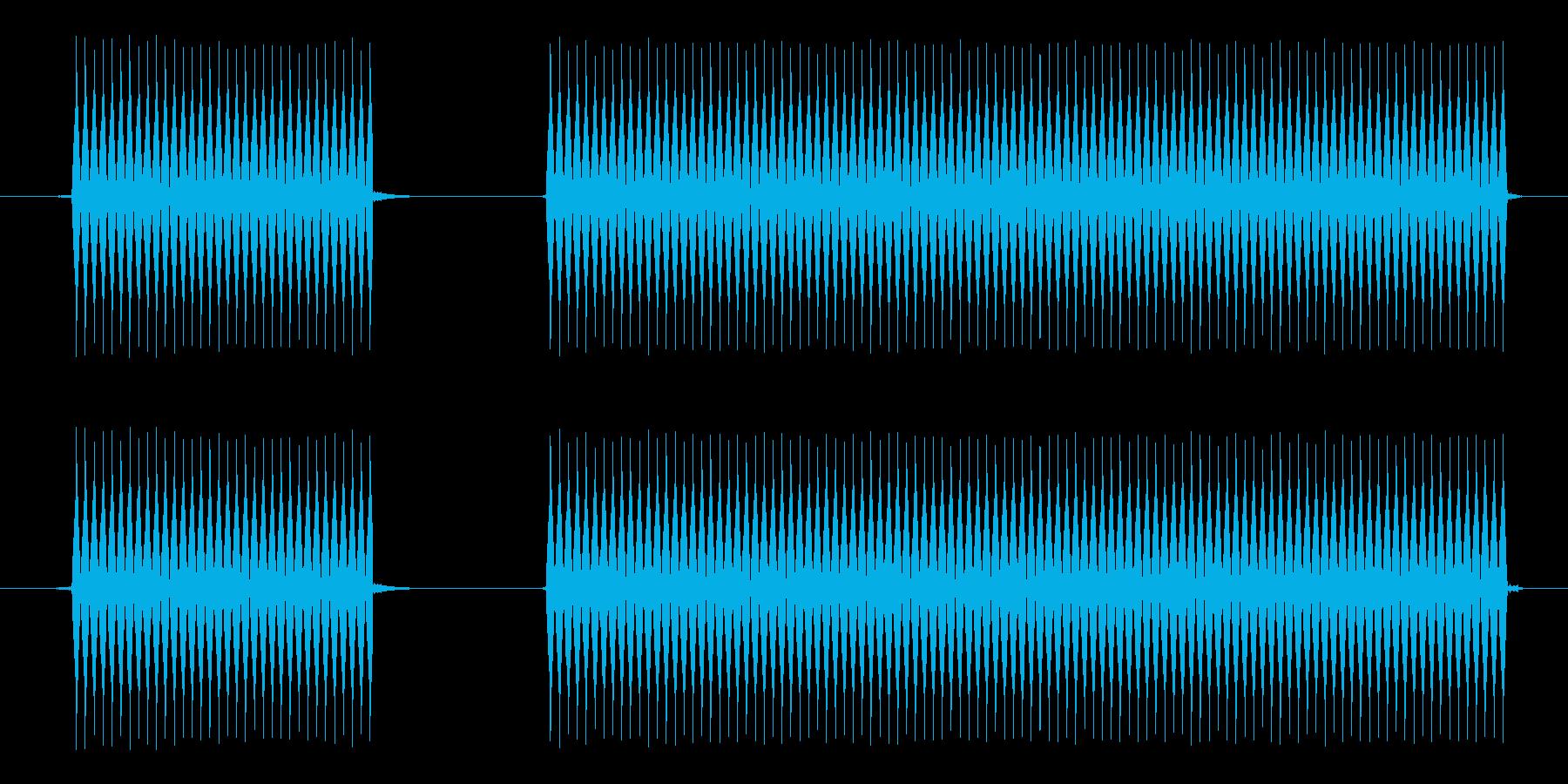 失敗したときや外れた時の音。の再生済みの波形