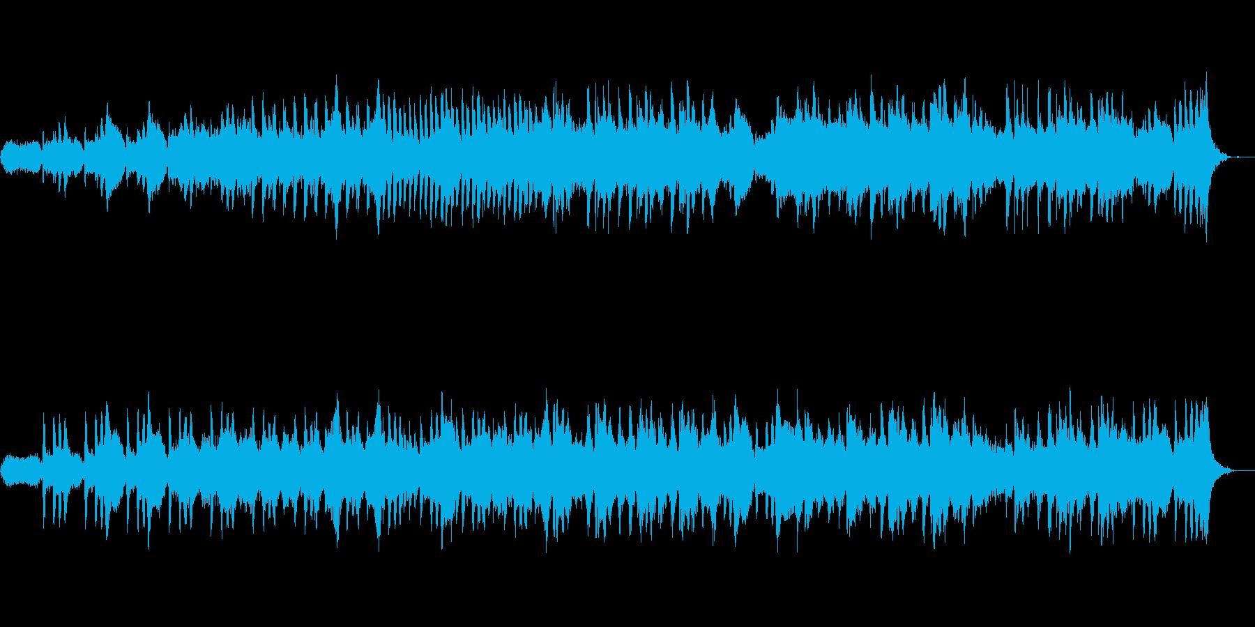 ★シンセサイザーとピアノの神秘的BGMの再生済みの波形
