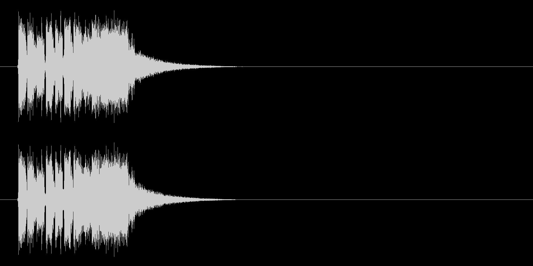 インパクトがありユニークなテクノの未再生の波形