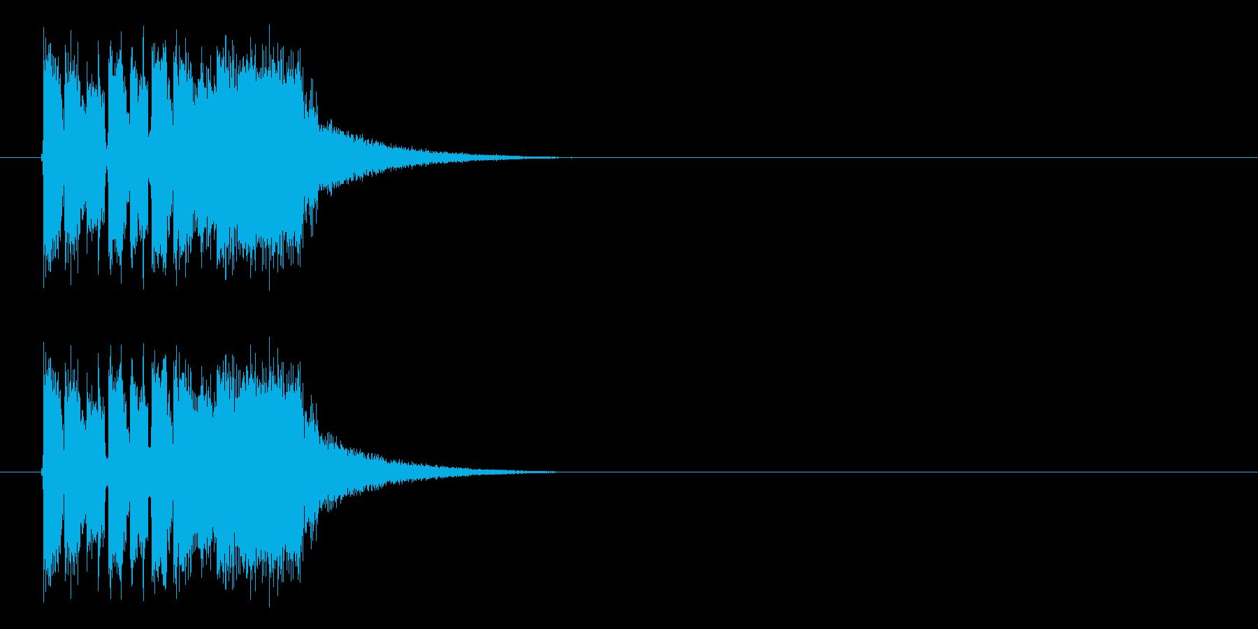 インパクトがありユニークなテクノの再生済みの波形