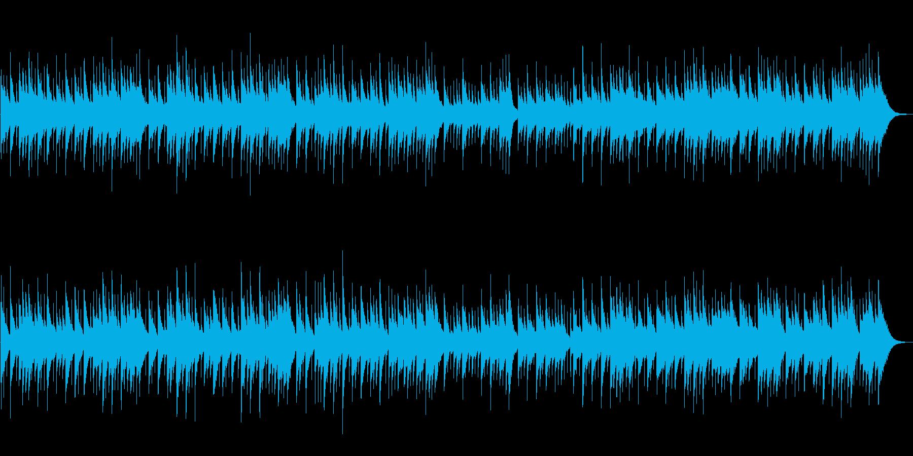 オルゴールのヒーリングの再生済みの波形