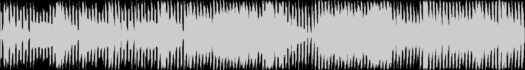 レトロゲームBGMを現代風にした楽曲の未再生の波形