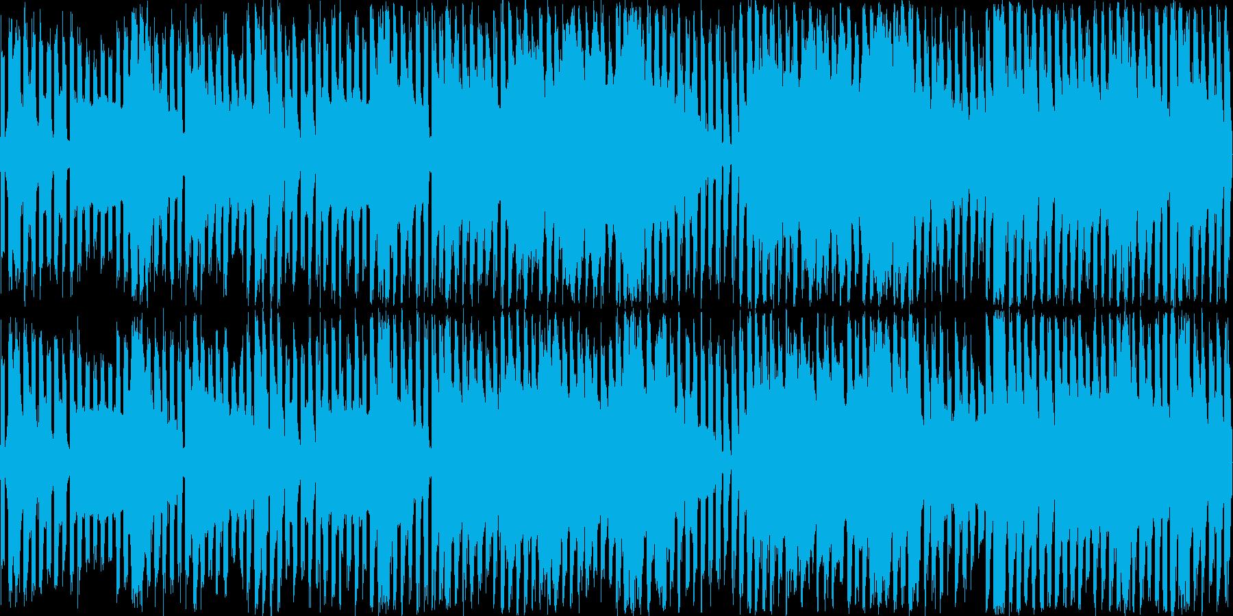 レトロゲームBGMを現代風にした楽曲の再生済みの波形