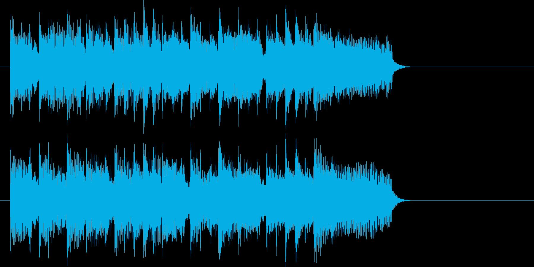 ほのぼの日常系ポップジングルの再生済みの波形