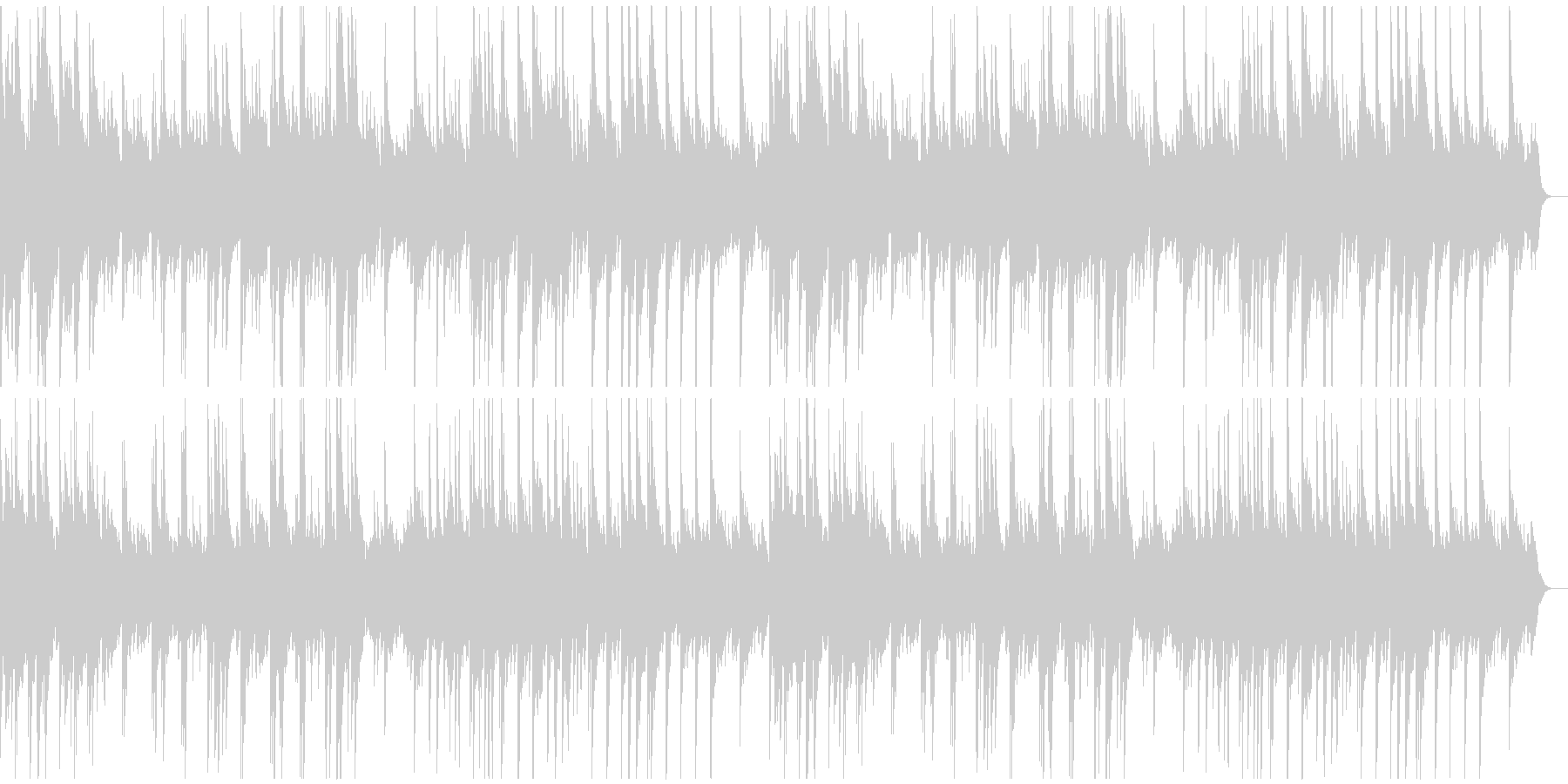 ゆったりしたソロ・ピアノ曲の未再生の波形