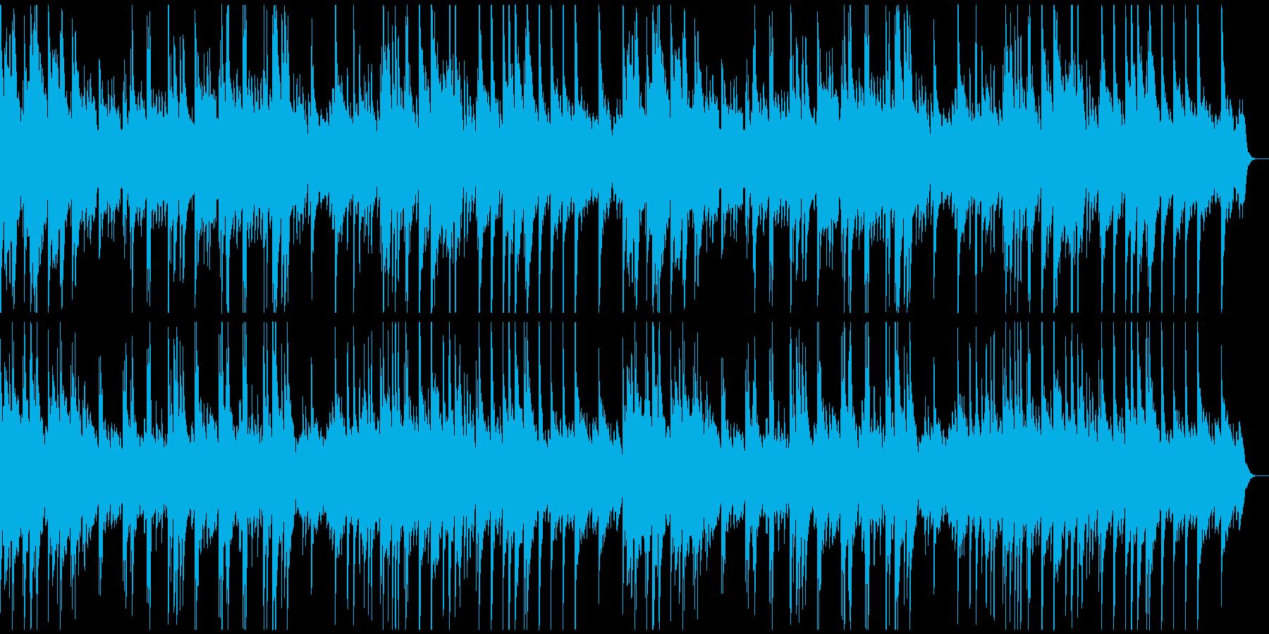 ゆったりしたソロ・ピアノ曲の再生済みの波形