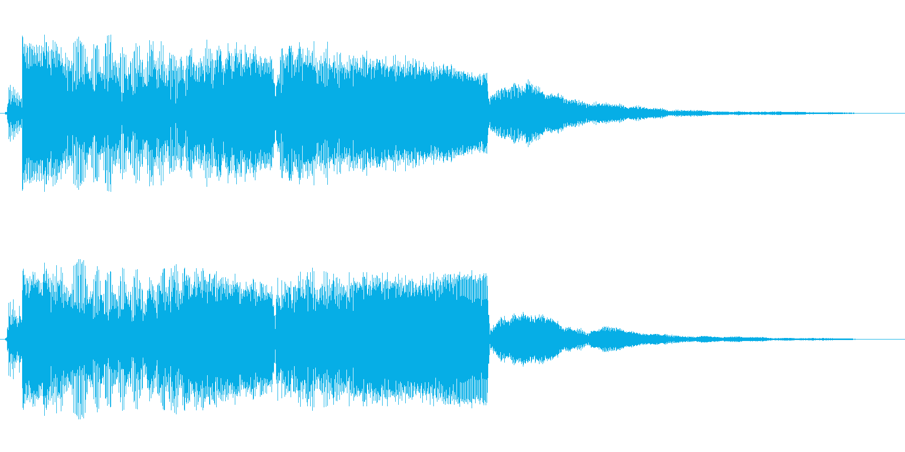 ジャ〜、カ〜(ワイルドな登場SE)の再生済みの波形