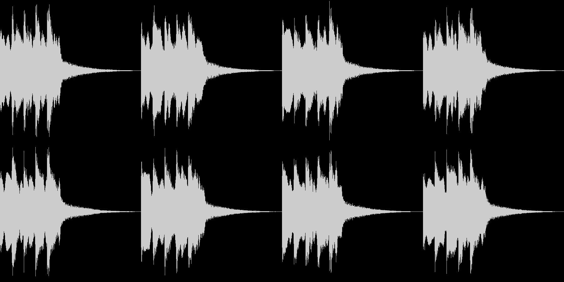 シンプル ベル 着信音 チャイム B14の未再生の波形