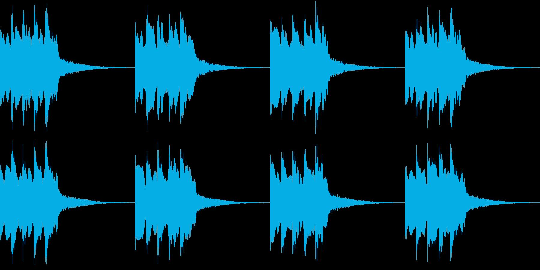 シンプル ベル 着信音 チャイム B14の再生済みの波形
