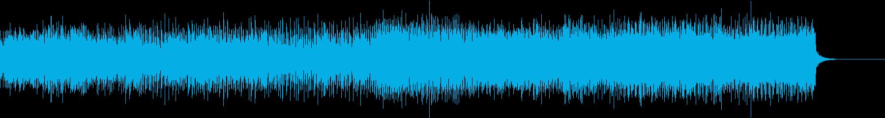 エンジンが稼働し続けるイメージのEDMの再生済みの波形