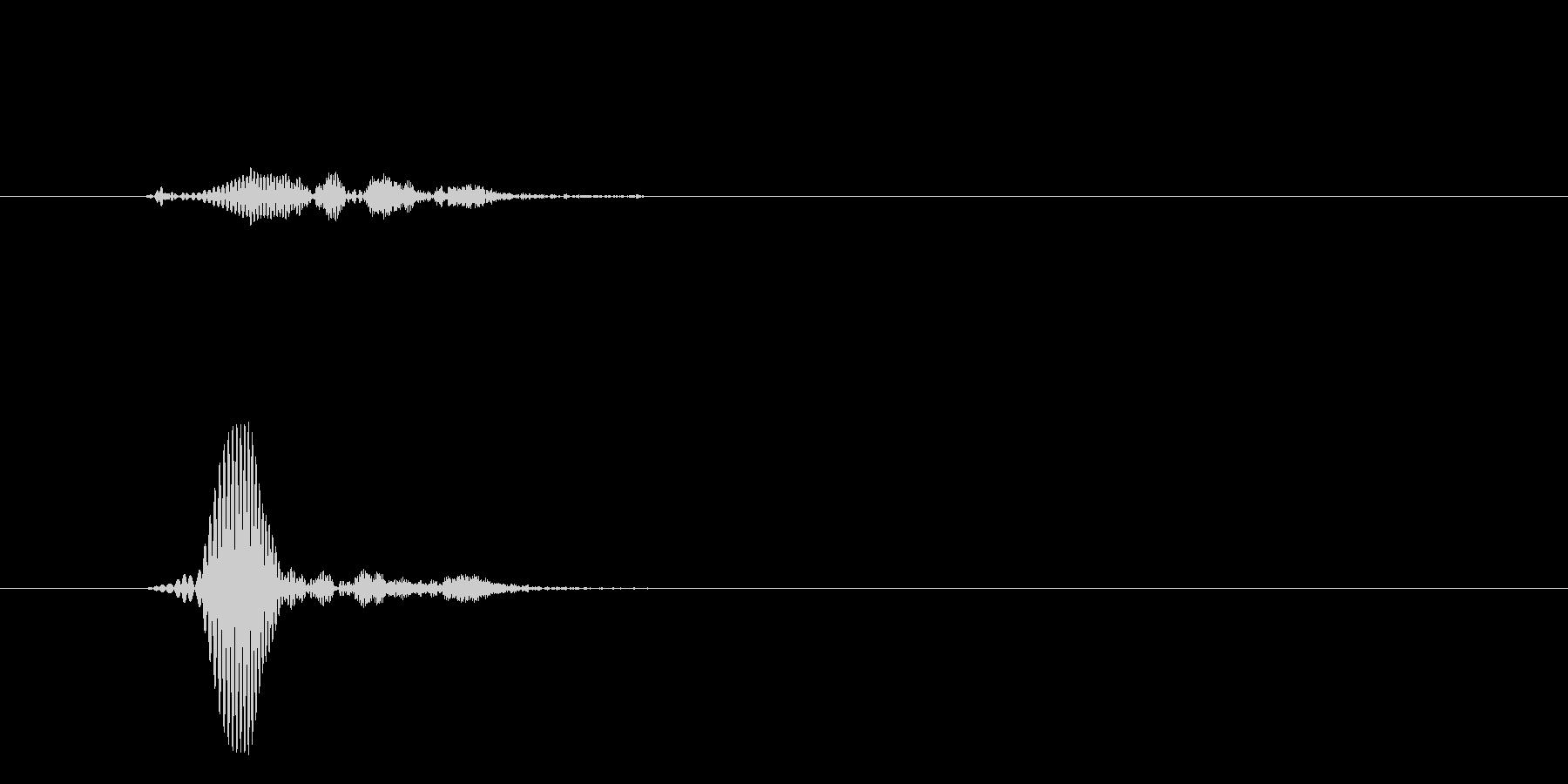 ピュッ(選択肢の移動音)の未再生の波形
