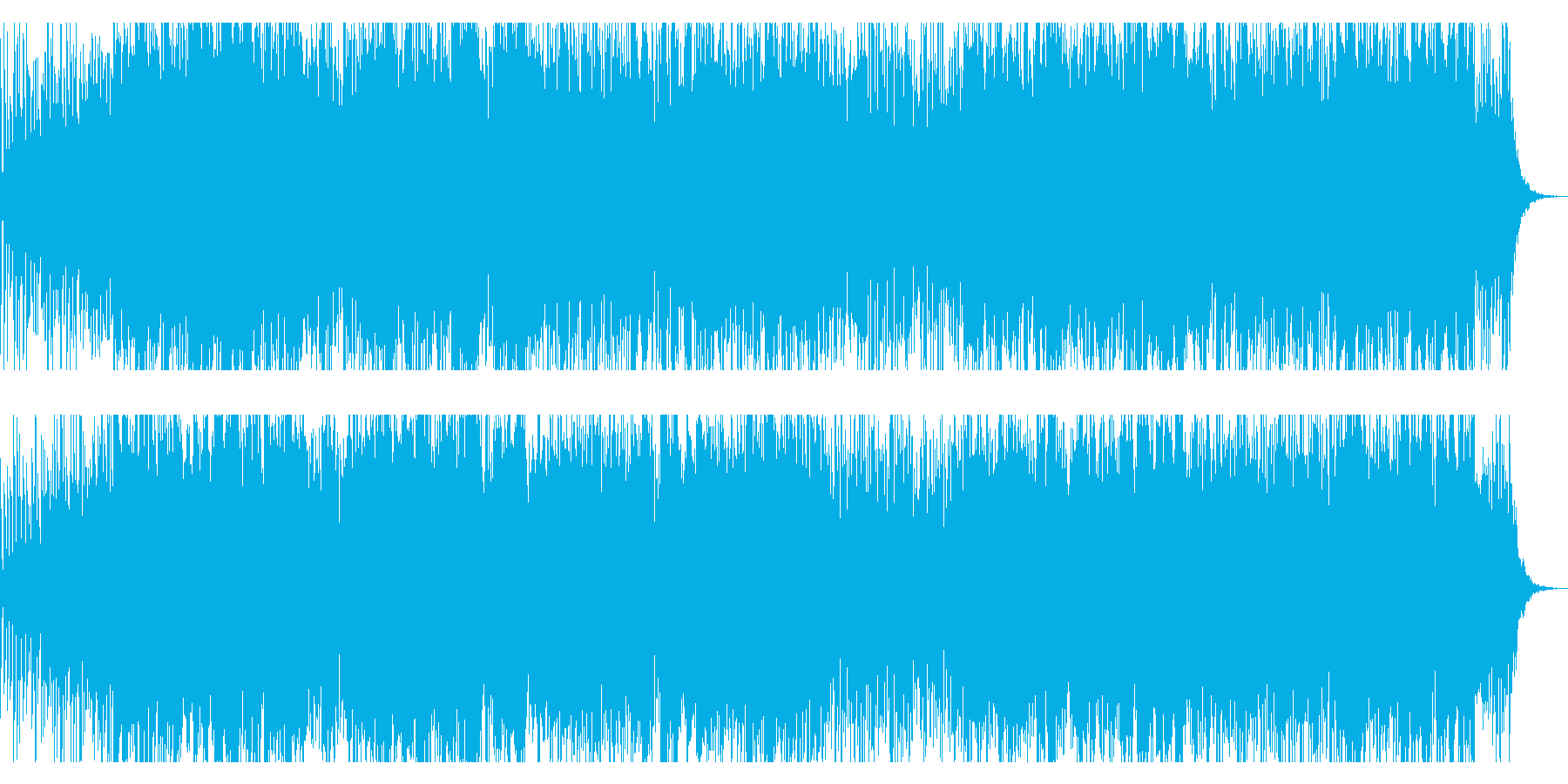 未来風BGMの再生済みの波形
